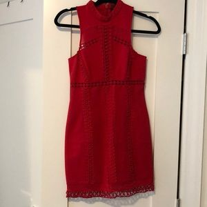 Red mini dress from free people